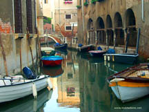 Boats in the canals of Venice